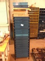 Equipto Hardware Cabinet with Contents & New Replacement Drawers