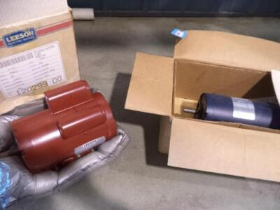"""NEW IN BOX"" (2) Leeson Electric Motors,"