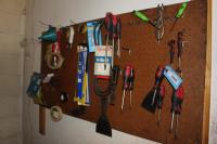 Contents of Pegboard to Include Small Hand Tools