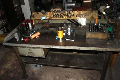 Steel Workbench with Contents of Cutters, Holders & Steel REMS