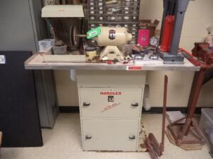 Red Wing Single End Buffing Station w/Red Wing Handler, Dust Collection System,