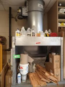"Exhaust Hood with Electric Fan, 36"" x 40"" x 36"" H, Baldor Electric Motor"