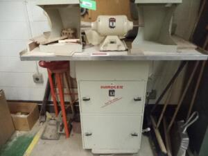 Red Wing Double End Buffer with Dust Collector, Single Phase