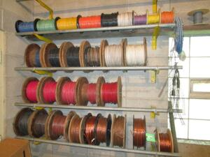 Lot of Copper Wire Wheels, Various Gauges, RACK NOT INCLUDED!