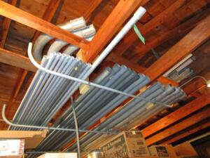 Lot of Metal & PVC Conduit