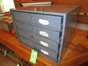 Dayton 4-Drawer Hardware Storage Unit with Contents of Electrical Supplies