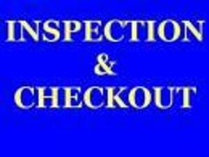 INSPECTION: Tuesday, September 22nd; 10:00-2:00 PM, CHECKOUT: Friday, September 25th; 9:00-4:00 PM,