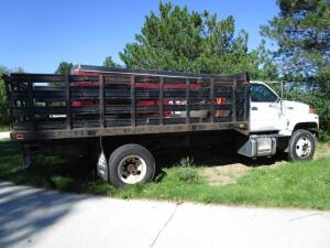 1994 GMC Top Kick Stake Bed Truck, VIN: 1GDJ7H1M4RJ519958, 6-Speed Manual Transmission,