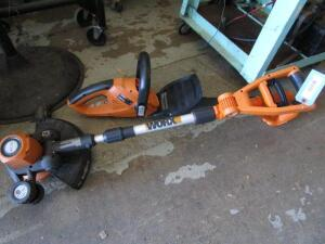 Worx Edger & Hedge Trimmer, (NO BATTERIES)