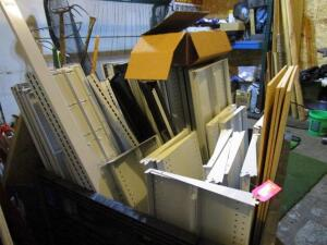 Lot of Lozier Shelving Components, (BIN NOT INCLUDED)