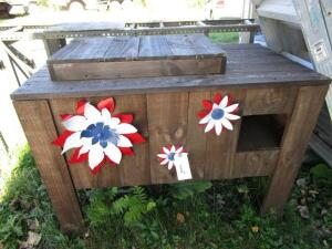 Decorative Wood Cooler, 2' x 43.5""