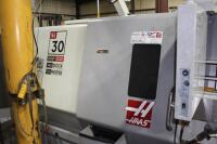 2008 Haas SL-30T Lathe, SN: 3080804, with Haas CNC Control, 12-Slot Turret,