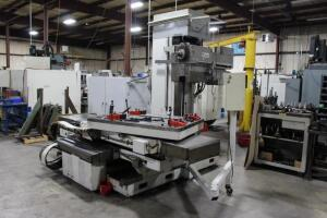 "Alesa Monti MCS 100 Boring Mill, 68""-X, 46""-Y, 24""-Z, 28""-W Axis Travel,"