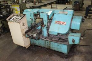 Daito Seiki GA260W Horizontal Band Saw, with Push Button Control & Exit Feed Conveyor
