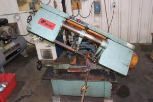 "Wilton 3700 9"" x 16"" Horizontal Band Saw, SN: 85371, with Outfeed Roller Conveyor"