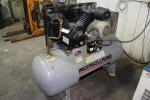 Ingersoll-Rand T30 Horizontal Tank Mounted Reciprocating Air Compressor, SN: 6041775, 7.5HP