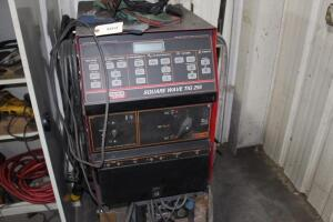 Lincoln Electric Square Wave TIG 255 Welder, SN: 10022-U1970706372, Cart Mounted,