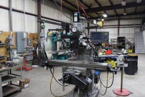 Bridgeport Series II Special Vertical Milling Machine, SN: 2388S, Power Drawbar, 2HP,