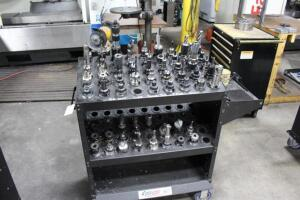 Tooling Cart with Contents of Holders & Cutting Tools