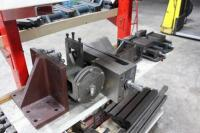 Fixture Cart with Contents of Rotary Chucks, Angle Plates, T-Slotted Table & Machinist Vises - 7