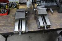 Set-Up Bench with Contents of (4) Machinist Vises, Tool Holders, Cutters, Drills & Bench Vise - 9