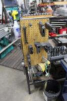 Set-Up Bench with Contents of (4) Machinist Vises, Tool Holders, Cutters, Drills & Bench Vise - 12