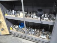Metal Shelf with Contents of Tooling & Jaws - 3