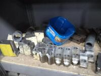 Metal Shelf with Contents of Tooling & Jaws - 7