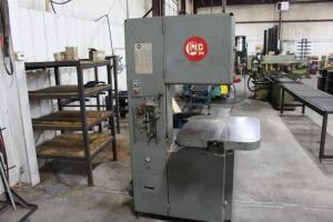 "1979 Grob 4V-18 Vertical Bandsaw, SN: 3555, 18"" Throat, 24"" x 28"" Table, Blade Welder Attachment"