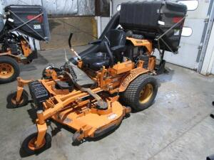 "Scag Turf Tiger Commercial Zero Turn Mower w/ Velocity Plus 61"" Deck, w/ Grass Catcher, 1,240 Hours"