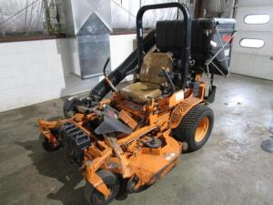 "Scag Turf Tiger Commercial Zero Turn Mower w/ Velocity Plus 61"" Deck, w/ Grass Catcher, 1,814 Hours"