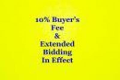 10% BUYER'S FEE & EXTENDED BIDDING IN EFFECT!!!!!
