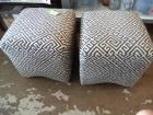 "(2) Fabric Ottomans, 17"" x 17"""
