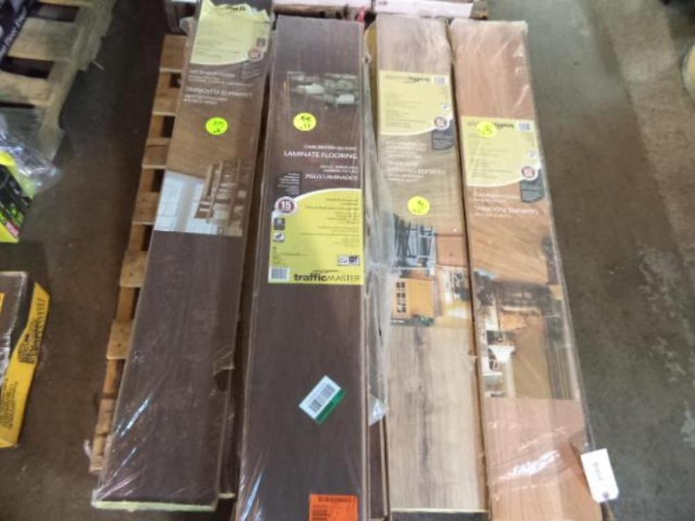 Depot Returns Auction, Colfax Glueless Laminate Flooring