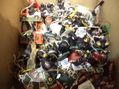 Approx. (55) Hanging Ornaments: Assorted Black Bear