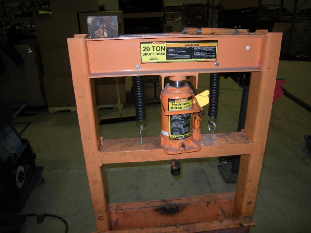 20-Ton Hydraulic Shop Press - Current price: $95