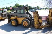New Holland LS190 Skid Steer Loader w/Outriggers & Vermeer 3300 Tree Spade Attachment,