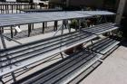 "(2) 3-Tier Galvanized Steel Garden Center Display Racks, 110"" Long x 24"" Deep, (EMPTY)"