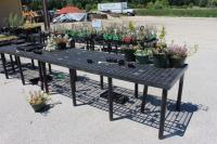 Approx. (20) Benchmaster Poly Garden Center Display Tables, Various Sizes, (EMPTY)