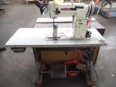 Consew 289RB-1 Single Needle High Post Sewing Machine, with Table Setup, Foot Pedal & Controls,