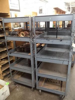 (2) Metal Multi-Tier Carts, (EMPTY)